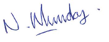 Managing Director Signature