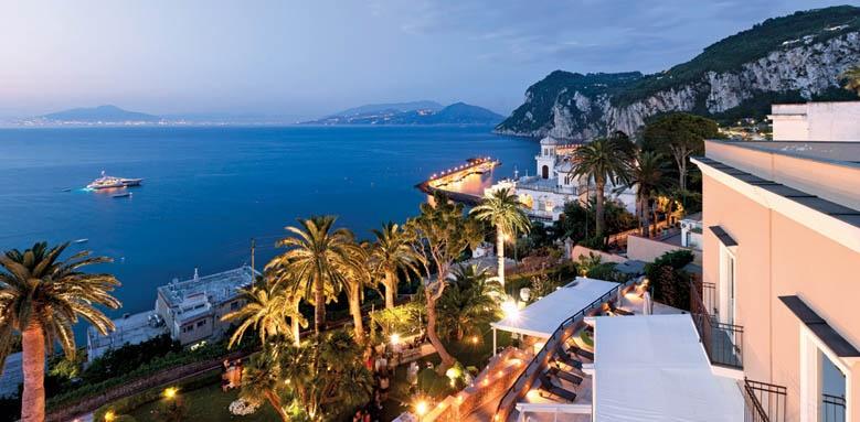 Villa Marina Capri Hotel & Spa, Evening Aerial View