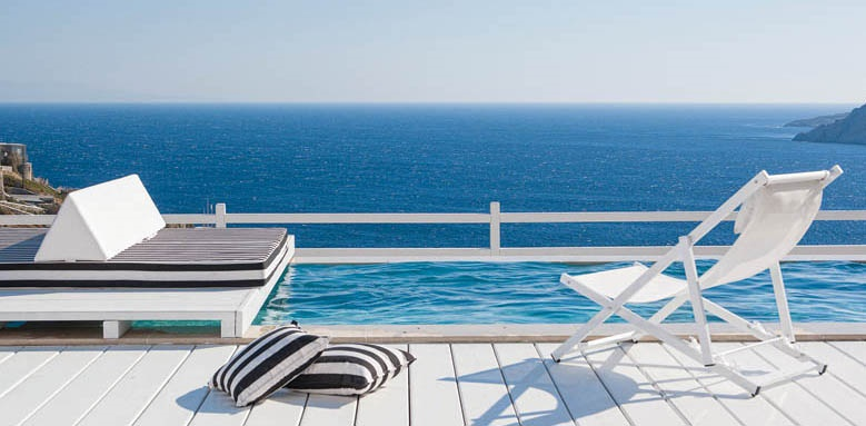 Myconian Villa Collection, villa pool and deck
