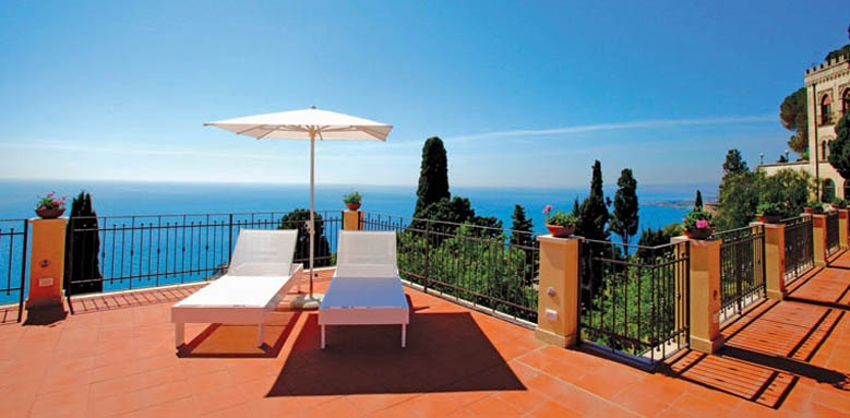 grand hotel san pietro taormina, terrace view