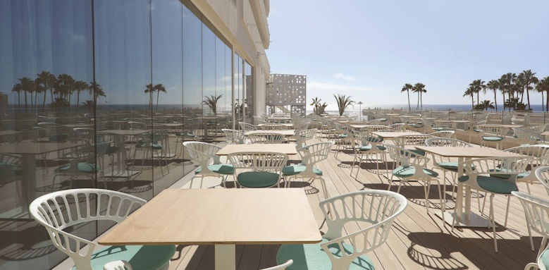 iberostar sabila, lobby bar terrace