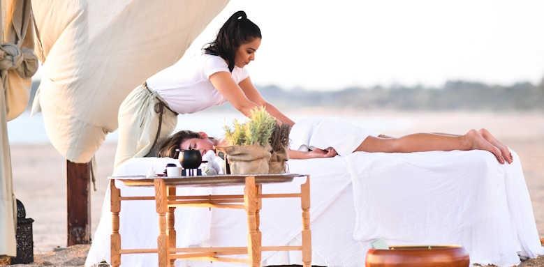 The Romanos Resort, beach massage