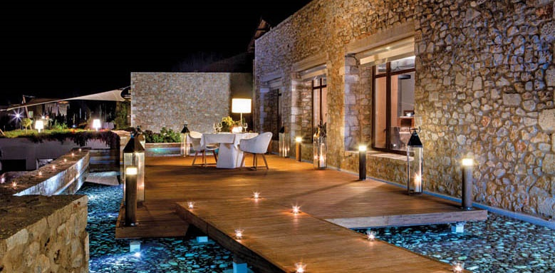 The Romanos Resort, private dining area