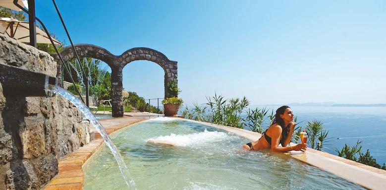 San Montano Resort & Spa, lady at pool