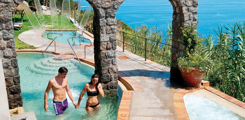 San Montano Resort & Spa, couple in pool