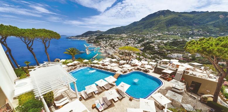 San Montano, pool and view