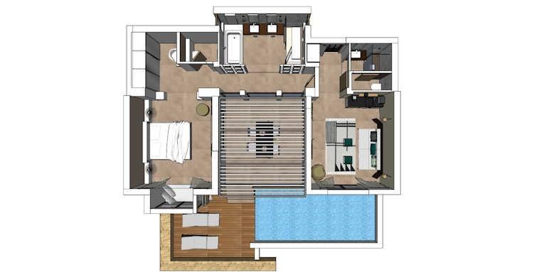 Eagles Villas, One Bedroom Pool Villa Sea View