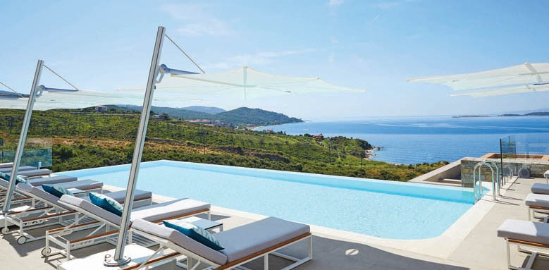 Eagles Villas, pool and view