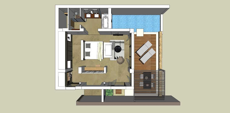 Eagles Villas, Junior Pool Villa layout