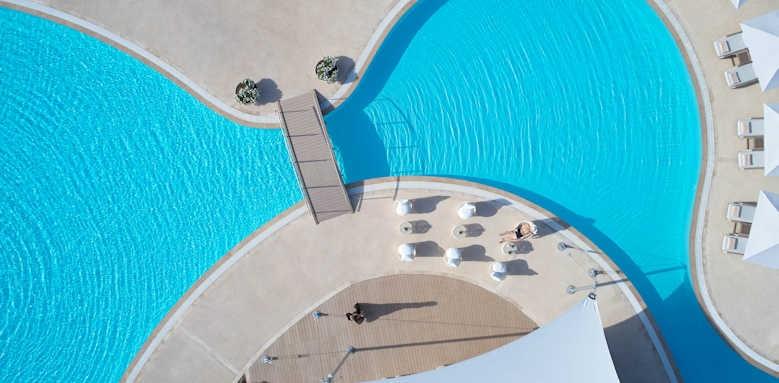 Sani Resort, Aerial pool view