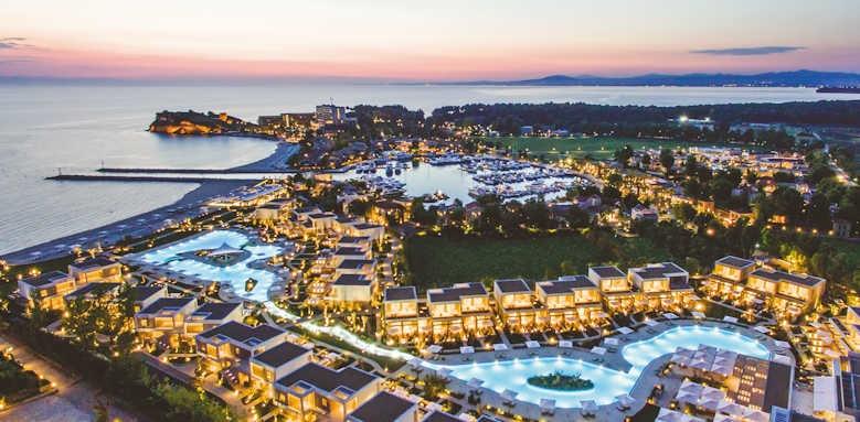 Sani Dunes, Sunset over all of Sani Resort