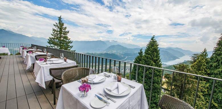 Kurhaus Cademario Hotel & Spa, restaurant terrace