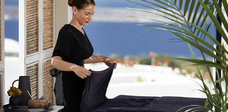 Santo Maris Oia,, spa outdoor massage