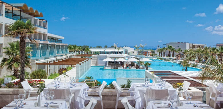 Avra Imperial Beach Resort & Spa, restaurant pool view