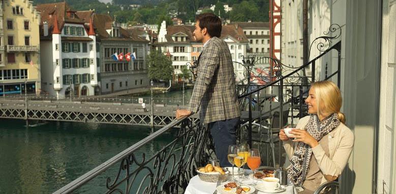 Hotel Des Balances, balcony