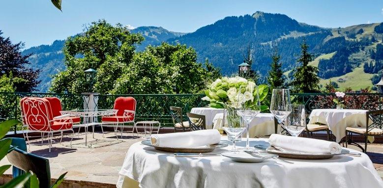 Tennerhof Gourmet & Spa de Charme Hotel, restaurant terrace