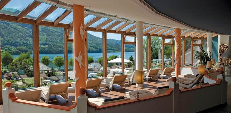 Ebner's Waldhof am See, sun terrace