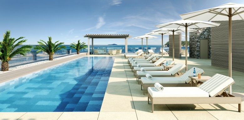 Royal Blue Hotel, poolside