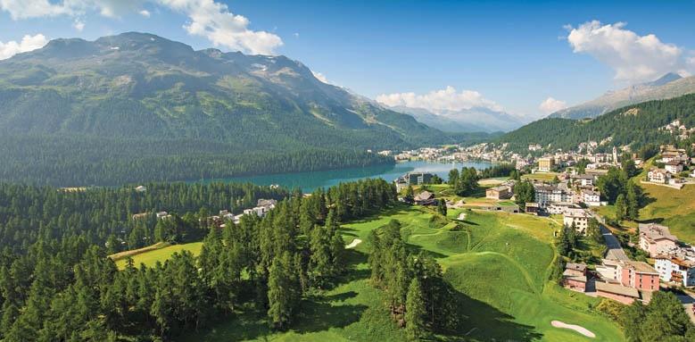 Hotel Kulm St Moritz, view