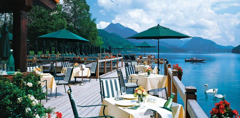 Schloss Fuschl, a Luxury Collection Resort & Spa, restaurant lakeside