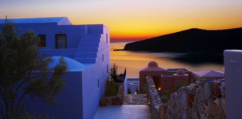 Domes of Elounda, sunset