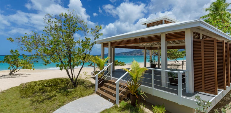 Spice Island Beach Resort, beach side pavilion