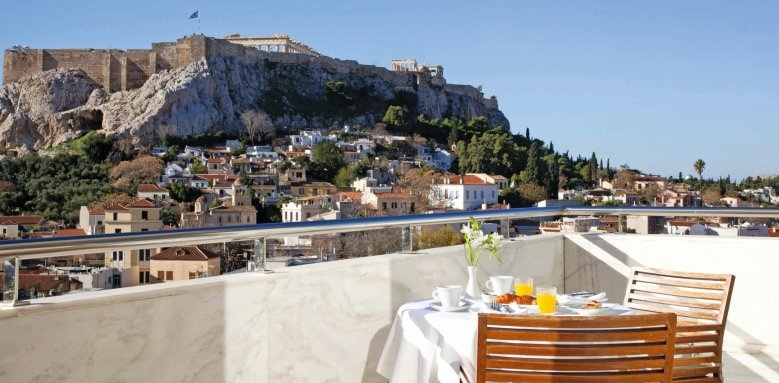 Electra Palace, breakfast on the terrace