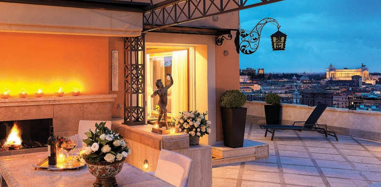 hassler roma, penthouse terrace