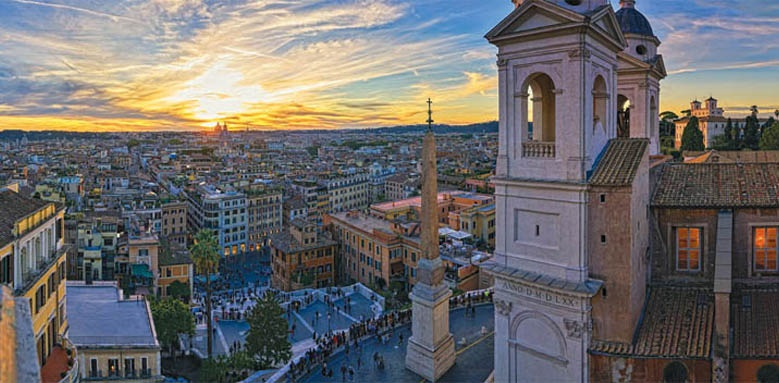 Hassler Roma, hotel view