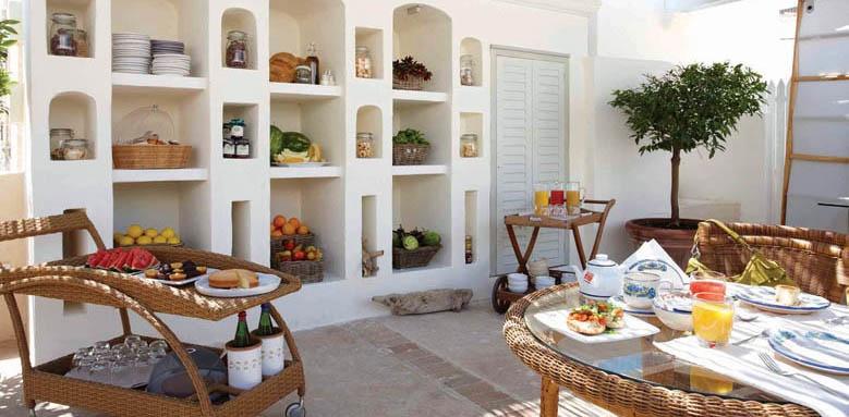 Relais corte Palmieri, dining terrace