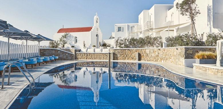 myconian kyma, pool + exterior