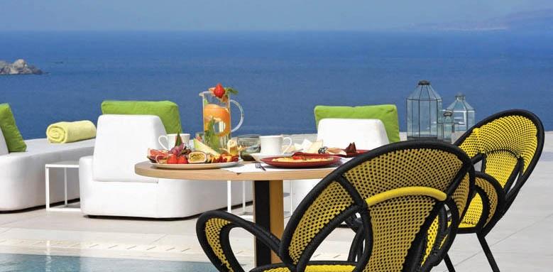 Myconian Naia, poolside dining