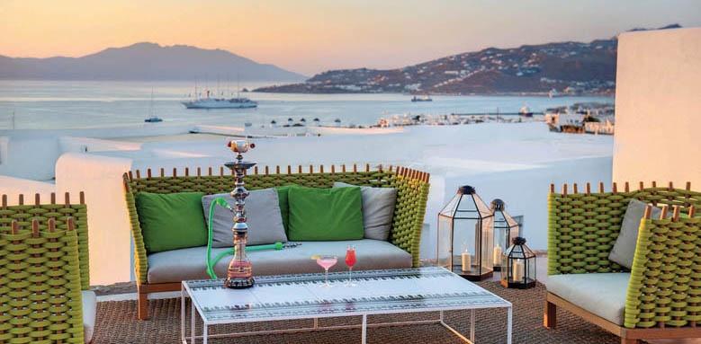 Myconian Naia, terrace