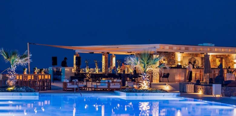Abaton Island Resort, night view