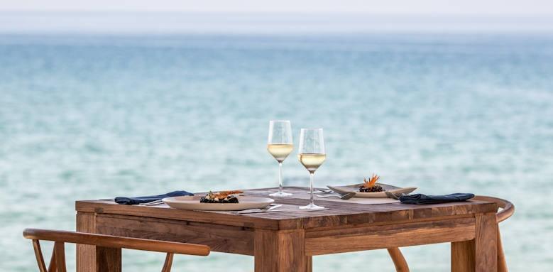 Abaton Island Resort, food area
