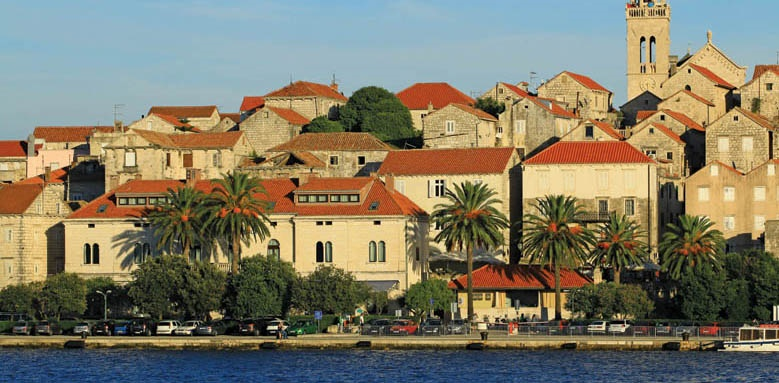 Hotel Korcula de la Ville, view from sea