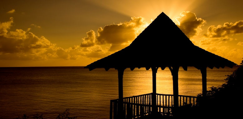 Calabash cove resort and spa, gazebo sunset