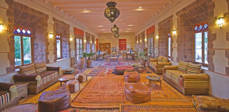 Kasbah Angour, restaurant and lounge area