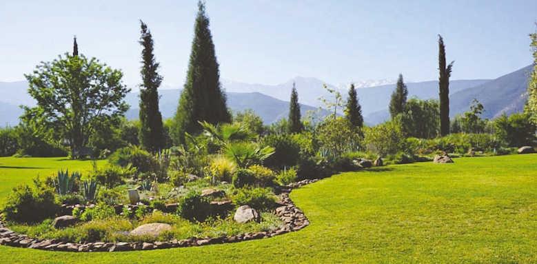Kasbah Angour, garden view