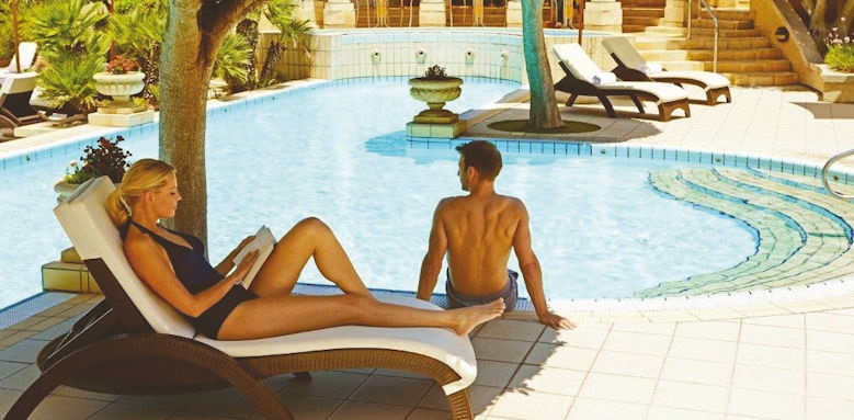 Corinthia Palace Hotel & Spa,, couple by pool