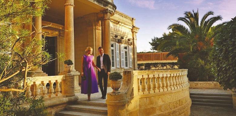 Corinthia Palace Hotel & Spa, couples old villa entrance