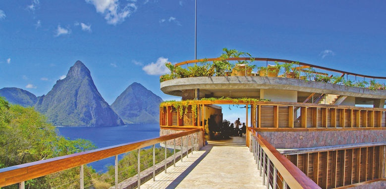 jade mountain, bridge to restaurant