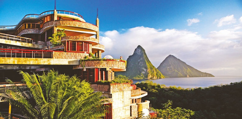 jade mountain, exterior view