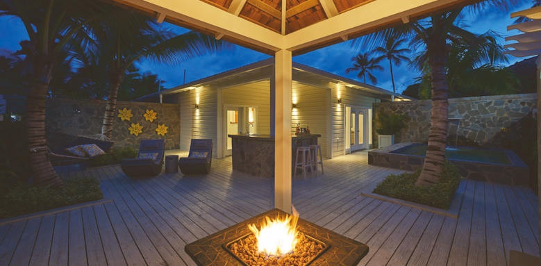 Serenity at Coconut Bay, firepit