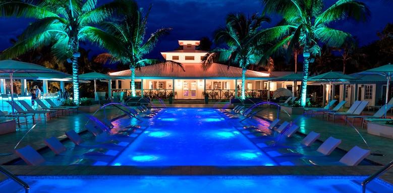 Serenity at Coconut Bay, pool at night