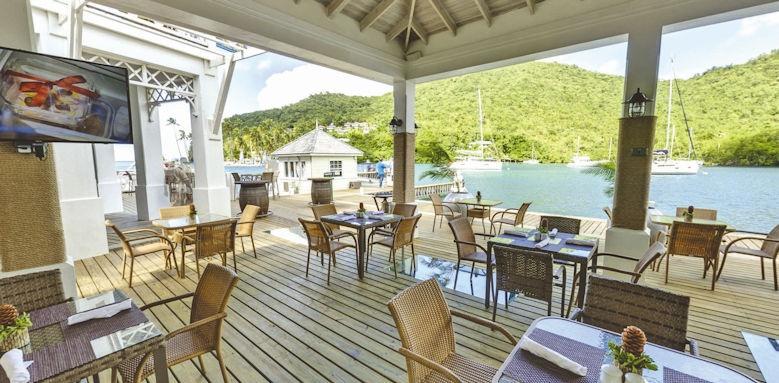 marigot bay resort & marina, restarurant