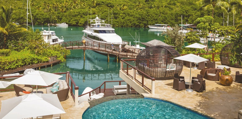 marigot bay resort & marina, harbour and pool
