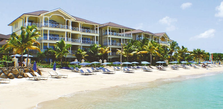 the landings resort & spa, view from sea