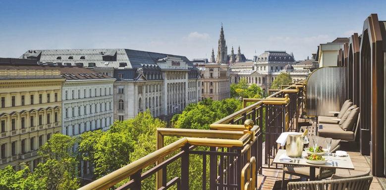 Hilton Vienna Plaza, presidential suite terrace