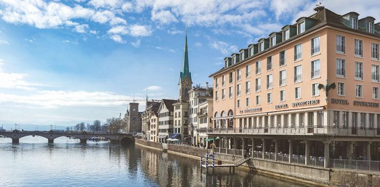 Storchen Zurich, exterior